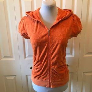 Original Juicy Couture Orange Terry Cloth Zip Up